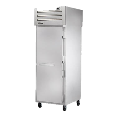 superior-equipment-supply - True Food Service Equipment - True One Section One Stainless Steel Door Front & Rear Pass-Thru Refrigerator