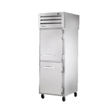 superior-equipment-supply - True Food Service Equipment - True One Section Two Front Stainless Steel Half Door & Two Rear Stainless Steel Half Door Pass-Thru Refrigerator