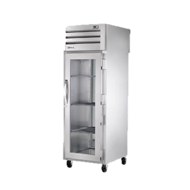 superior-equipment-supply - True Food Service Equipment - True One Section One Glass Front Door & One Stainless Steel Rear Door Pass-Thru Refrigerator