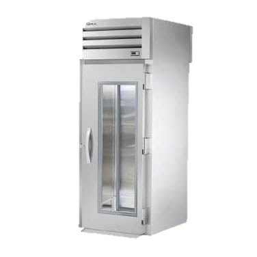 superior-equipment-supply - True Food Service Equipment - True Stainless Steel One Glass Door Front & One Solid Door Rear Roll-Thru Refrigerator