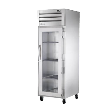 superior-equipment-supply - True Food Service Equipment - True One Section Stainless Steel Front & Side One Glass Door Reach-In Refrigerator