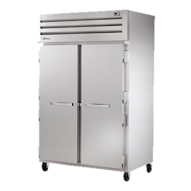 "superior-equipment-supply - True Food Service Equipment - True Stainless Steel Two Section Two Door Reach-In Freezer 53""W"
