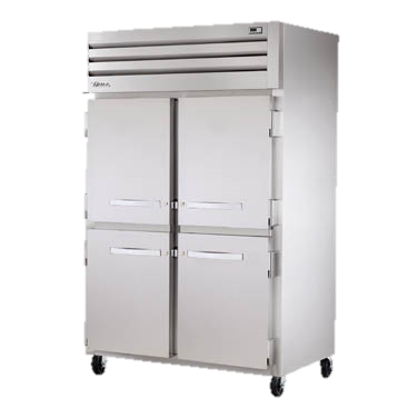 "superior-equipment-supply - True Food Service Equipment - True Stainless Steel Two Section Four Half Door Reach-In Freezer 53""W"