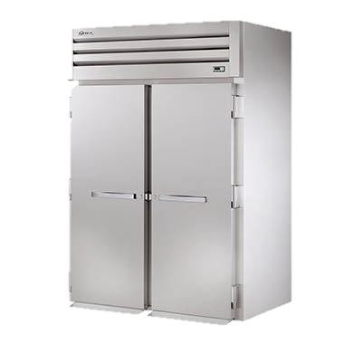 "superior-equipment-supply - True Food Service Equipment - True Stainless Steel Two Door Two Section Roll-In Freezer 68""W"