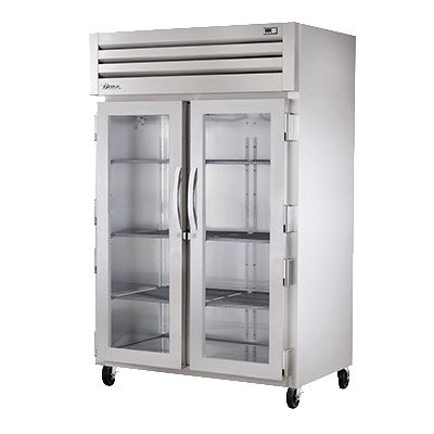superior-equipment-supply - True Food Service Equipment - True Two Section Stainless Steel Front & Side Two Glass Door Reach-In Heated Cabinet