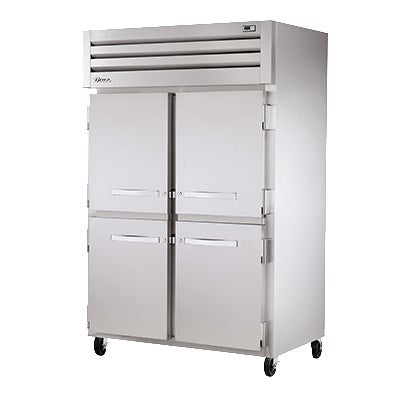 superior-equipment-supply - True Food Service Equipment - True Two Section Stainless Steel Front & Side Four Stainless Steel Half Door Reach-In Heated Cabinet