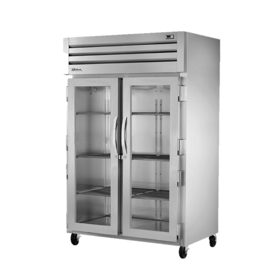 True Two Section Two Glass Door Reach-In Refrigerator