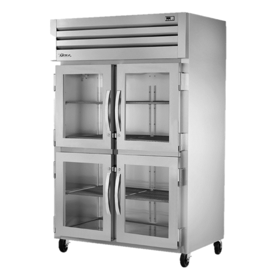 superior-equipment-supply - True Food Service Equipment - True Two Section Four Glass Half Door Reach-In Refrigerator