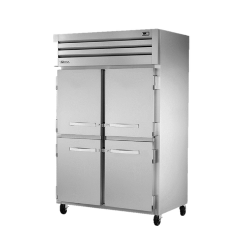 superior-equipment-supply - True Food Service Equipment - True Two Section Four Stainless Steel Half Door Reach-In Refrigerator