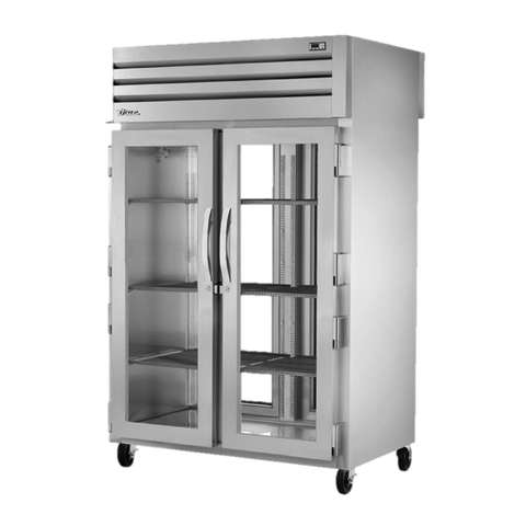 superior-equipment-supply - True Food Service Equipment - True Two Section Two Front & Rear Glass Door Pass-Thru Refrigerator