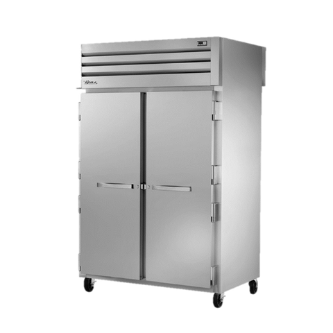 superior-equipment-supply - True Food Service Equipment - True Two Section Two Stainless Steel Front Door & Two Glass Rear Door Pass-Thru Refrigerator