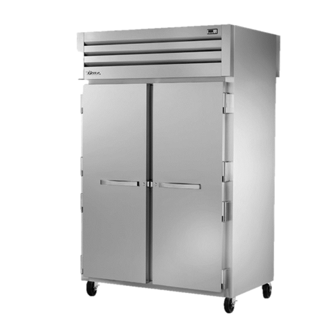 superior-equipment-supply - True Food Service Equipment - True Two-Section Two Stainless Steel Front & Rear Door Pass-Thru Refrigerator