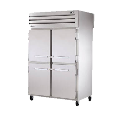 superior-equipment-supply - True Food Service Equipment - True Two Section Four Half Stainless Steel Door Front & Rear Pass-Thru Refrigerator