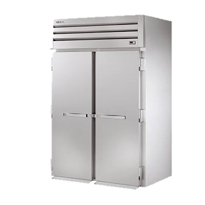 "superior-equipment-supply - True Food Service Equipment - True Stainless Steel Two Section Two Door 89"" Roll-In Refrigerator"