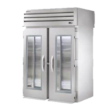 superior-equipment-supply - True Food Service Equipment - True Two Glass Door Front Two Stainless Steel Door Rear Roll-Thru Refrigerator
