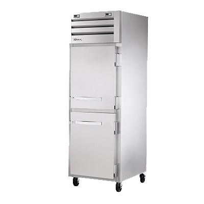 superior-equipment-supply - True Food Service Equipment - True  Stainless Steel One Section Two Half Door Reach-In Refrigerator/Freezer