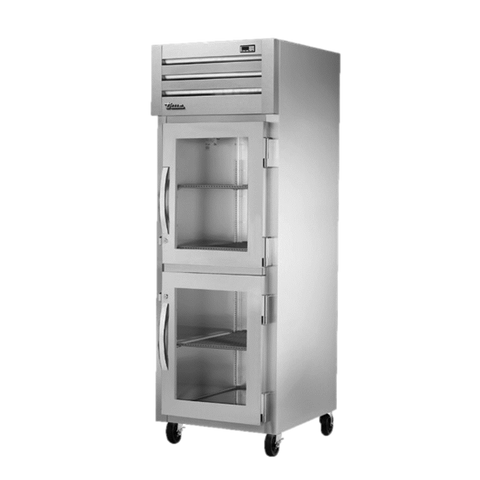 "superior-equipment-supply - True Food Service Equipment - True Stainless Steel One Section Two Glass Half Door Reach-In Freezer 27.5""W"