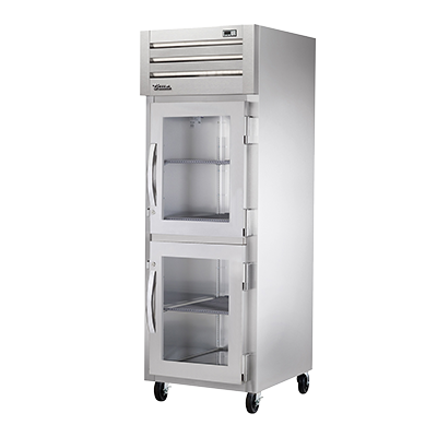 superior-equipment-supply - True Food Service Equipment - True Stainless Steel One-Section Two Glass Half Door Reach-In Heated Cabinet