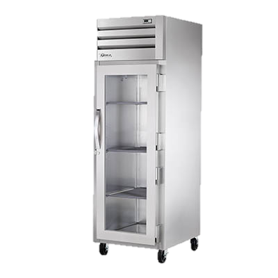 True One Section One Glass Door Reach-In Refrigerator