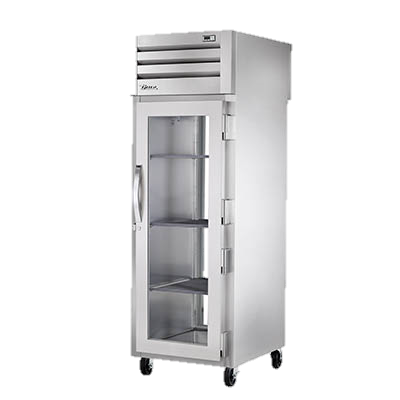 superior-equipment-supply - True Food Service Equipment - True Stainless Steel One-Section One Glass Door Front & Rear Pass-Thru Refrigerator