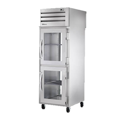 superior-equipment-supply - True Food Service Equipment - True Stainless Steel One-Section Two Glass Half Door Pass-Thru Refrigerator