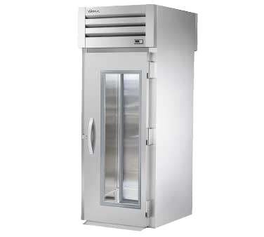 superior-equipment-supply - True Food Service Equipment - True One Glass Door Front & One Stainless Steel Door Rear Roll-Thru Refrigerator