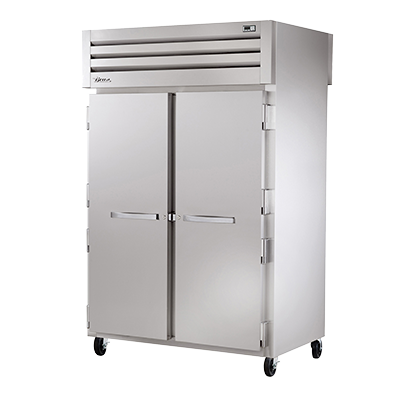superior-equipment-supply - True Food Service Equipment - True Two-Section Two Stainless Steel Front & Rear Door Pass-Thru Heated Cabinet