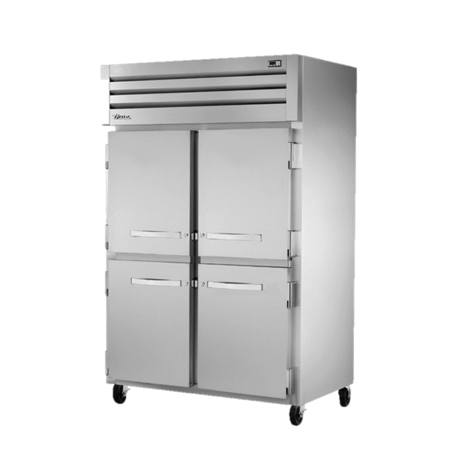 True Two-Section Four S/S Half Door Reach-In Refrigerator