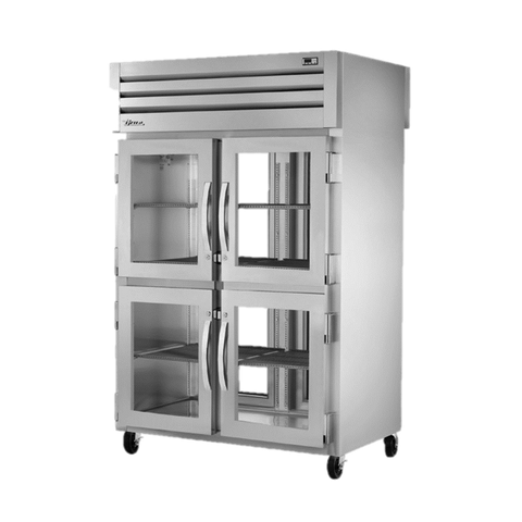 superior-equipment-supply - True Food Service Equipment - True Two-Section Four Glass Door Front & Two Glass Door Rear Pass-Thru Refrigerator