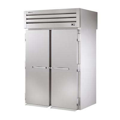 "superior-equipment-supply - True Food Service Equipment - True Two-Section Two Stainless Steel Door Front & Rear 89""H Roll-Thru  Refrigerator"