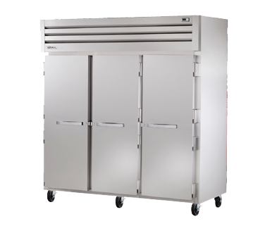 "superior-equipment-supply - True Food Service Equipment - True Three-Section Three Stainless Steel Door Reach-In Freezer 77.75""W"