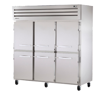 superior-equipment-supply - True Food Service Equipment - True Three-Section Six Stainless Steel Half Door Reach-In Freezer