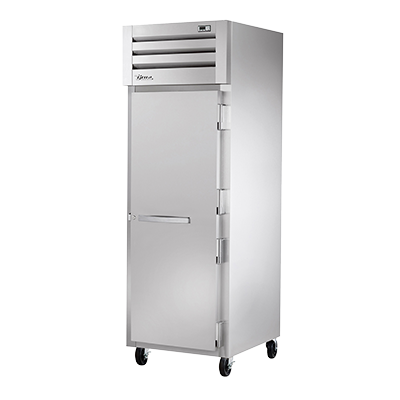 "True One-Section One Stainless Steel Door Reach-In Freezer 27.5""W"