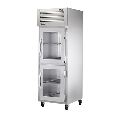 superior-equipment-supply - True Food Service Equipment - True Stainless Steel One-Section Two-Glass Half Door Reach-In Freezer