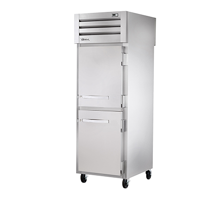 superior-equipment-supply - True Food Service Equipment - True One-Section Two Stainless Steel Half Door Front & Rear Pass-Thru Freezer