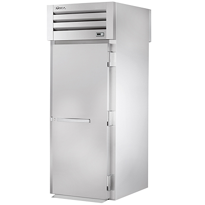 "superior-equipment-supply - True Food Service Equipment - True One-Section One Stainless Steel Door Front & Rear 89"" H Roll-Thru Heated Cabinet"