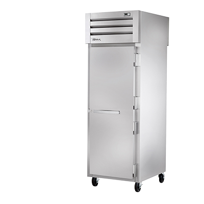 superior-equipment-supply - True Food Service Equipment - True One-Section One Stainless Steel Door Front & One Glass Door Rear Pass-Thru Refrigerator