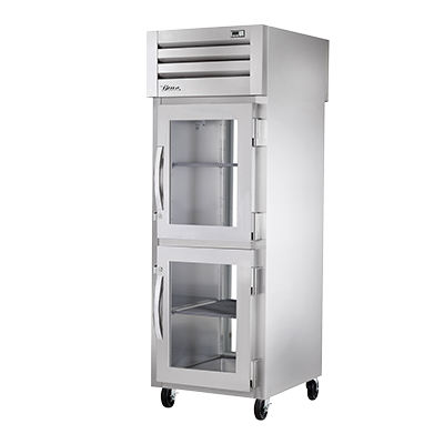 superior-equipment-supply - True Food Service Equipment - True One-Section Two Half Glass Front Door & One Glass Door Rear Pass-Thru Refrigerator