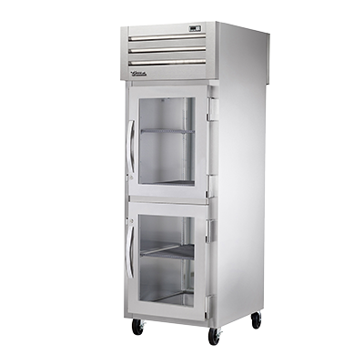 superior-equipment-supply - True Food Service Equipment - True One-Section Two Glass Half Door Front & One Stainless Steel Door Rear Pass-Thru Refrigerator