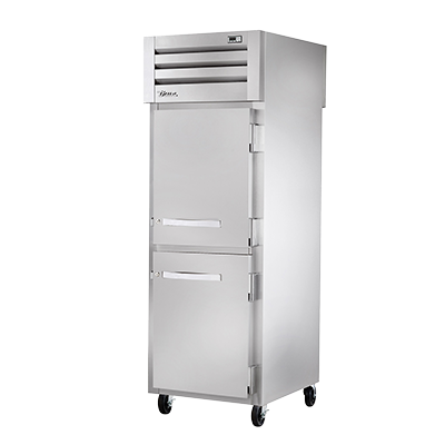 superior-equipment-supply - True Food Service Equipment - True One-Section Two Stainless Steel Half Door & One Glass Door Rear Pass-Thru Refrigerator