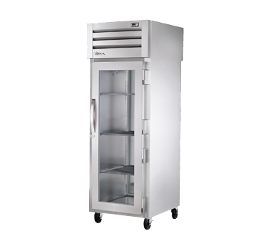 superior-equipment-supply - True Food Service Equipment - True One-Section One Glass Door Front & One Stainless Steel Door Rear Pass-Thru Refrigerator