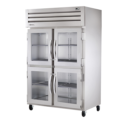 superior-equipment-supply - True Food Service Equipment - True Stainless Steel Two-Section Two Glass Half Door Reach-In Heated Cabinet