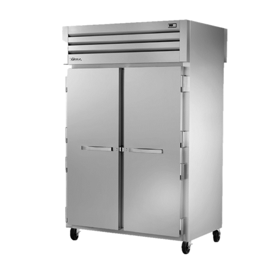 superior-equipment-supply - True Food Service Equipment - True Two-Section Two Stainless Steel Door Front & Rear Pass-Thru Refrigerator
