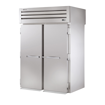 superior-equipment-supply - True Food Service Equipment - True Two-Section Two Stainless Steel Door Front & Rear Roll-Thru Refrigerator