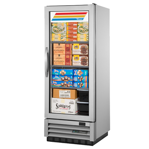 superior-equipment-supply - True Food Service Equipment - True Stainless Steel One-Section One Glass Door Reach-In Freezer