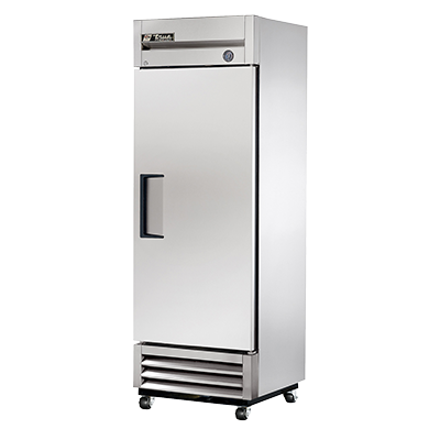True One-Section One Stainless Steel Door 0° F Reach-In Freezer