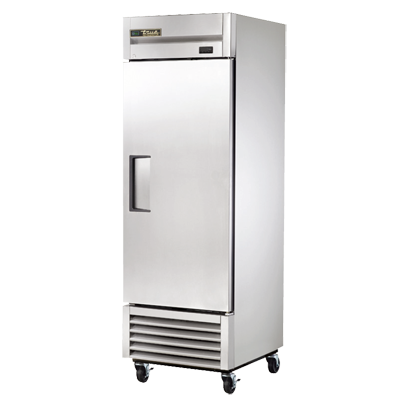 True One-Section One Stainless Steel Door Reach-In Refrigerator