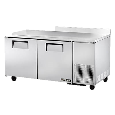 "superior-equipment-supply - True Food Service Equipment - True Stainless Steel 67"" Wide Two Section Deep Work Top Freezer"
