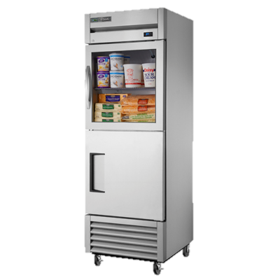 superior-equipment-supply - True Food Service Equipment - True One-Section One Glass & One Stainless Steel Half Door Reach-In Refrigerator