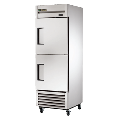 True One-Section Two Stainless Steel Half Door Reach-In Refrigerator